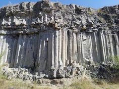 Columnar basalt, Racoș, Brașov county, Romania
