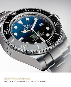 The Rolex Deepsea D-Blue Dial. #Festive #RolexOfficial For more information regarding this timepiece, please be sure to visit http://www.cdpeacock.com/.