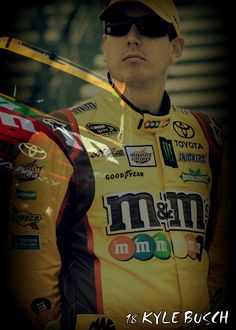 Kyle Busch #18 is the man! BTW I made this pic by super imposing two pics together :)