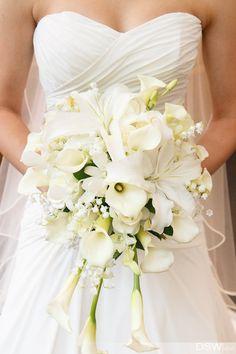 White Calla Lily bridal bouquet.