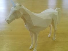 Low Poly Unicorn by linkindog  http://thingiverse.com/thing:402596