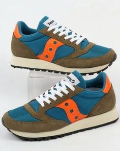 e0faa1696 Saucony Jazz Original Vintage Trainers Teal Olive
