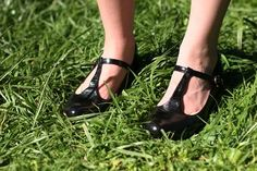 T-strap Mary Jane shoes...I saved up my baby sitting money to buy these shoes. they were $17 back in the 1950's