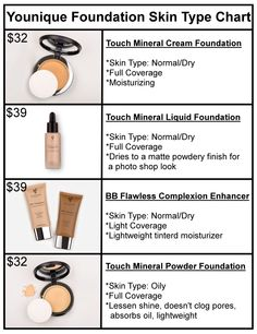 Younique Foundation Chart. Click to order. Want more information or tips, join my Facebook group at www.facebook.com/groups/106517206410341/