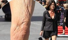 Time to dress your age! Janice Dickinson, shows the telltale signs of ageing with her wrinkled legs on full display Beautiful Women Over 50, Janice Dickinson, American Idol, Ageing, Supermodels, Catwalk, Display, Legs, Pistols