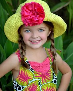Pretty hat and pretty little girl!