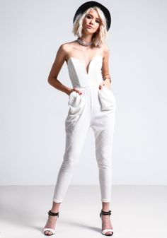 White Sweetheart Jumpsuit - Love Culture