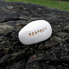 Hey, I found this really awesome Etsy listing at https://www.etsy.com/listing/589976522/respect-ceramic-message-pebble