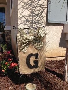 Burlap Hanging Flag to match a front door wreath
