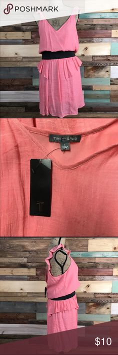 """Tinley Road Coral Dress NWT Closet clean out! Purchased from a previous Posher but never got around to wearing it!  Pink/Coral Dress - Tinley Road Coral Sundress Size large, new with tag Bust 19""""//Waist 15"""" laying flat//Length 38"""" Tinley Road Dresses"""