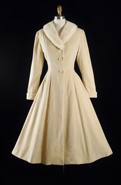 RESERVED 40s 50s Princess Coat / 1940s 1950s by GeronimoVintage