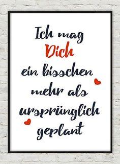 """""""Mag Dich"""" Kunstdruck Geschenk zum Valentinstag:"""