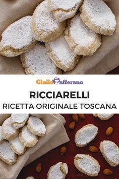 I RICCIARELLI sono dei biscottini tipici toscani a base di marzapane, tradizionalmente preparati in occasione del periodo natalizio. Spolverizzati con lo zucchero a velo e con il tipico aroma di mandorla e la caratteristica forma a losanga, sono ideali da offrire accompagnati a un vino liquoroso! #giallozafferano #dolci #dessert #cookies #bisquits #italianfood #italianrecipe #ricciarelli #toscana [Ricciarelli cookies: original Italian recipe] Cute Food, Yummy Food, Biscuits, Biscotti Cookies, Italian Cookies, Something Sweet, Italian Recipes, Food Videos, Cookie Recipes