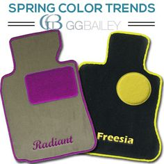 The top color trends for spring 2014 line up well with options available when you design your custom car floor mats with  GGBailey.com. Click the pin to read more.