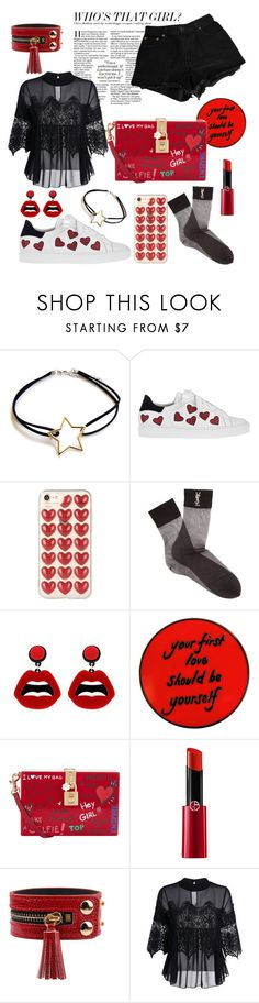 """Creation #130"" by katlaura ❤ liked on Polyvore featuring Steffen Schraut, Yves Saint Laurent, sweet deluxe, Dolce&Gabbana, Giorgio Armani and Levi's"