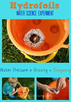 Water Science Experiments for Kids, STEM activities for kids, water science, gravity, buoyancy