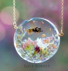resin pendant, lost of beautiful things on this site www.lost-forest.com
