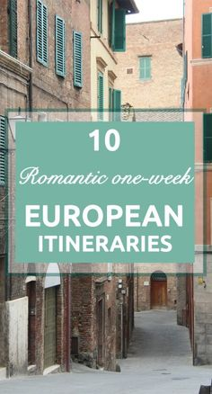 European Itineraries