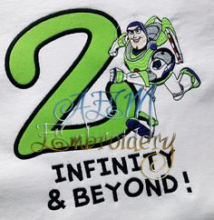 9cebcfff 2 Infinity and Beyond Buzz Birthday Shirt 2nd Birthday Shirt by  AEMembroidery on Etsy 2nd Birthday