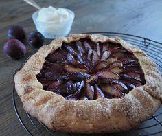 Rustikk Mat: Plommegalette med marsipan Desserts, Food, Pai, Tailgate Desserts, Deserts, Eten, Postres, Dessert, Meals