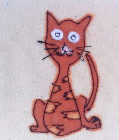 This simple little cat was made by sewing organza onto a canvas background. The finished result is similar to that of a painted picture but far more special and unique. The needle was my pen and the fabric was my paint. This card would shine out from any others in a line up because it is much more than just a card. It would be perfect for framing as a special memento to keep long after the event. Each card is individually handmade by me in my studio so small variations from the one in the…