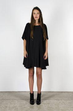 Rise Dress Black Silk
