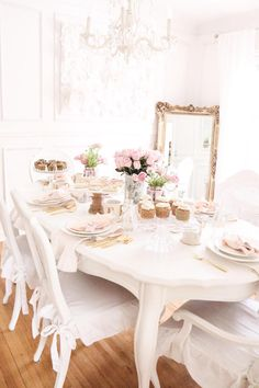 Guest tablescape from a Sweet and Elegant Valentine's Day Party on Kara's Party Ideas | KarasPartyIdeas.com (22)