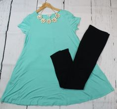 This timeless mint short sleeve tunic with pockets is perfect for any occasion! Can be worn as a dress or paired with your favorite leggings. Boutique Clothing, Fashion Boutique, Mint Shorts, Short Sleeve Dresses, Tunic, Pockets, Shopping, Clothes, Style