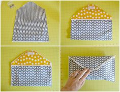 This adorable DIY diaper clutch is so easy!