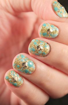 Glitter Nails #flossgloss