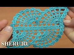 Ленточное кружево с паутинкой Урок 30 часть 2 из 2 Crochet Spider Web Lace Pattern - YouTube