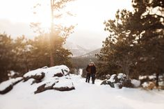Wide Couple Shot in Rocky Mountain National Park // Engagement Photography in Colorado // www.nicksparksweddings.com // Nick Sparks Wedding Photographer