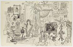 Saul Steinberg, Dada Art, Virtual Art, Gelatin Silver Print, World Of Interiors, Art World, Wall Collage, Vintage World Maps, Art Gallery