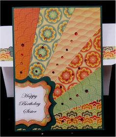 Sister Birthday Paper Piece Card