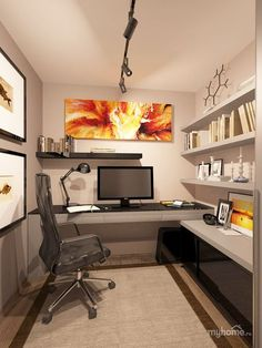 There's so much you can do with your tiny office space… Let us show you! Check more on hackthehut.com #officedesign