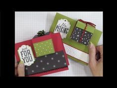 Finger Tips for Paper Crafting Art: Gift Box in a Card Fun Fold Cards, Folded Cards, Creative Connections, Big Shot, Gift Card Boxes, 3d Christmas, Gift Bows, Card Tutorials, Gift Baskets