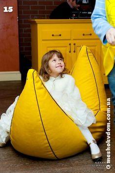 Детская мебель, кресло мешок, купить детский бескаркасный пуфик в Форосе, Украине Bench Cushions, Sofa Pillows, Floor Pillows, Diy Bean Bag, Bean Bags, Living Room Floor Plans, Diy Cushion, Cute Pillows, Decorative Throws