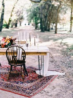Our sleek Hairpin Farm Table, Wooden Mismatched Chairs and Atwood rug help create this super romantic head table design at a recent styled shoot at Berkeley Plantation by Tart Event Co, Amanda Burnette Florals and Nikki Santerre Photography! Farm Table Wedding, Wedding Reception Chairs, Wedding Ceremony, Wedding Design Inspiration, Design Ideas, Mismatched Dining Chairs, Art Gallery Wedding, Yellow Wedding Flowers, Romantic Table