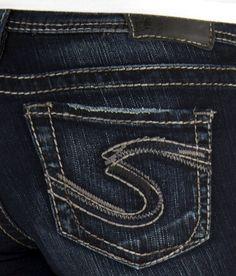 a10ed7a5 CHEAP Sale Women Silver Dark Mid Rise Suki Bootcut Stretch Jean  26,29,30,31,32 L
