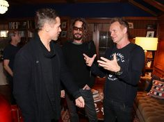 Randy Shropshire via Getty Images. Brad Pitt here with Sting and his great friend Chris Cornell ...