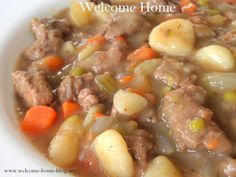Welcome Home Blog: Homemade Beef Vegetable Soup