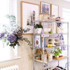 Our Heavy-Duty Chrome Shelving Units aren't just for the work place... @antheajanebiggs shows us how it's done! #HomeDecor #Bigdug #Racking #Shelving #Home #Design #InteriorDesign #Kitchen #HomeSweetHome #Lifestyle #HomeInspo #Organisation #Tidy #GettingOrganised Display Ideas, Getting Organized, Workplace, Shelving, Sweet Home, Chrome, Retail, The Unit, Interior Design