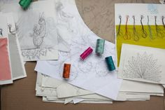 Textile designs in the making // Coral & Tusk Studio Tour