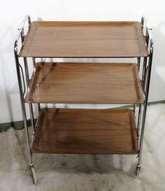 mid century design - minimalistischer Servierwagen Rollwagen XXL Teewagen ~ 60er   Antiquitäten & Kunst, Design & Stil, 1960-1969   eBay! Mid Century Style, Shelves, Furniture, Ebay, Design, Home Decor, Drink Cart, Rolling Carts, Minimalist