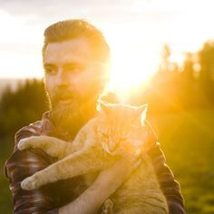 my dream man, bearded and loves cats