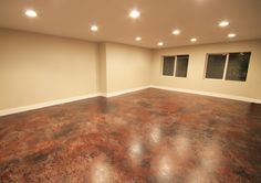 Basement art studio room design ang lighting, Like the two emergency exit windows. Opens up the area.