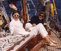 16 Style Lessons to Learn from Jackie Kennedy  - Skip Breton Stripes for Head-to-Toe White from InStyle.com