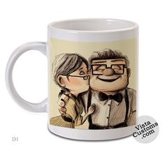 Carl and Ellie disney pixar up, Coffee mug coffee, Mug tea, Design for mug, Ceramic, Awesome, Good, Amazing