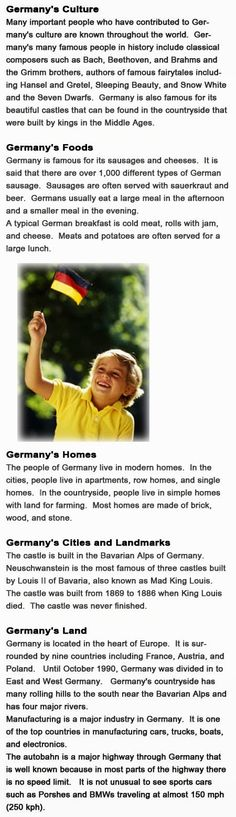 Germany for kids http://firstchildhoodeducation.blogspot.com/2013/10/germany-for-kids.html
