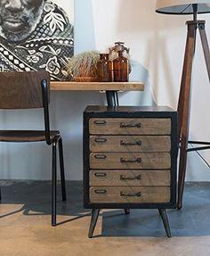 Chevet SOL 5 tiroirs de Zuiver esprit VINTAGE: Amazon.fr: Cuisine & Maison